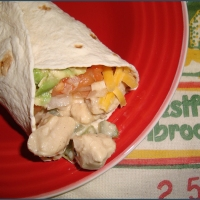 Jack Daniel's chicken wrap