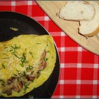 Mushroom and chorizo omelette