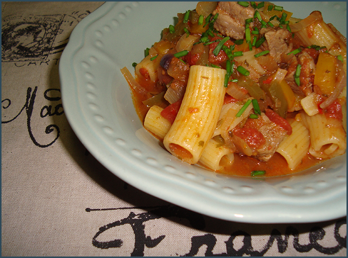 Beef pasta with peppers | add some butter
