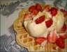 honey-drizzled-waffles-with-vanilla-ice-cream-strawberries-and-almonds-1
