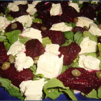 My neighbour's beetroot, feta and rocket salad