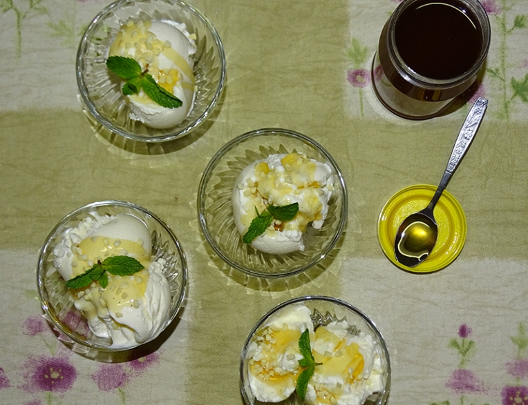greek-frozen-yogurt-with-honey-and-almond-nibs-1