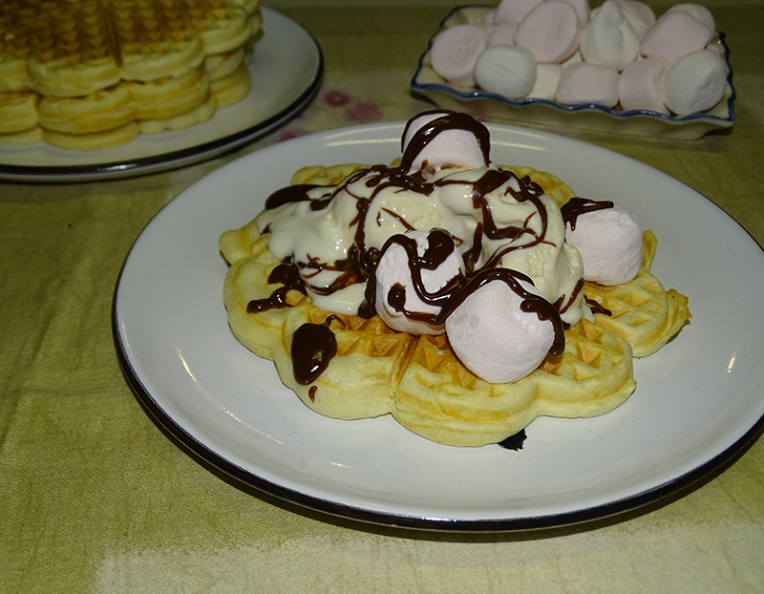 waffles-with-vanilla-ice-cream-marshmallows-choc-sauce-2