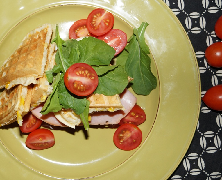 corn-waffles-with-ham-and-rocket-2