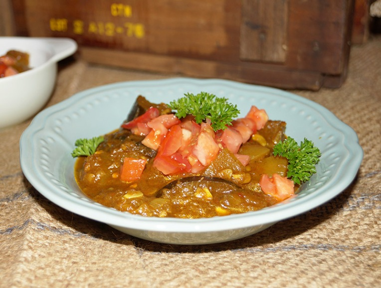 brinjal and marrow tomato curry