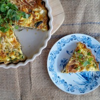 Mushroom and herb quiche