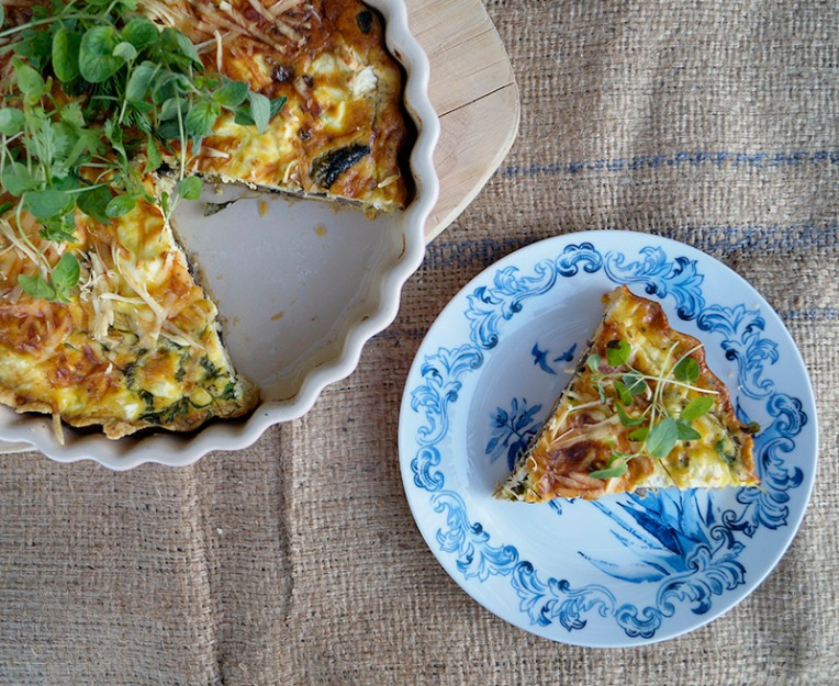 Mushroom and herb quiche 2