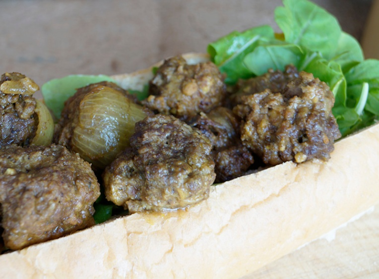 Ostrich curried meatball subs 2