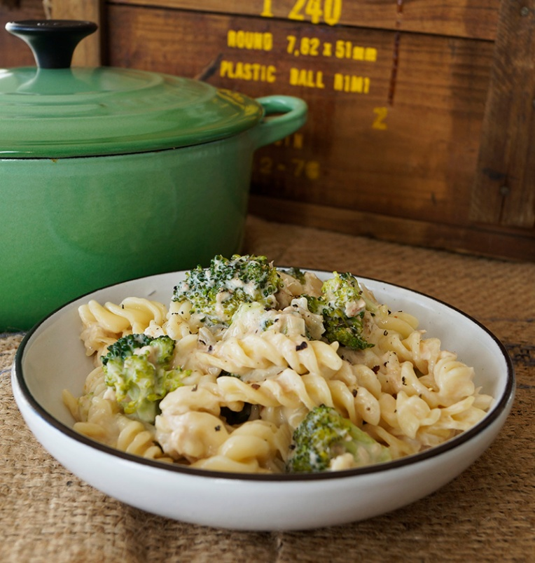 Broccoli and tuna fusilli 1