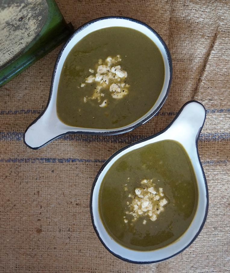 Spinach and broccoli soup 2
