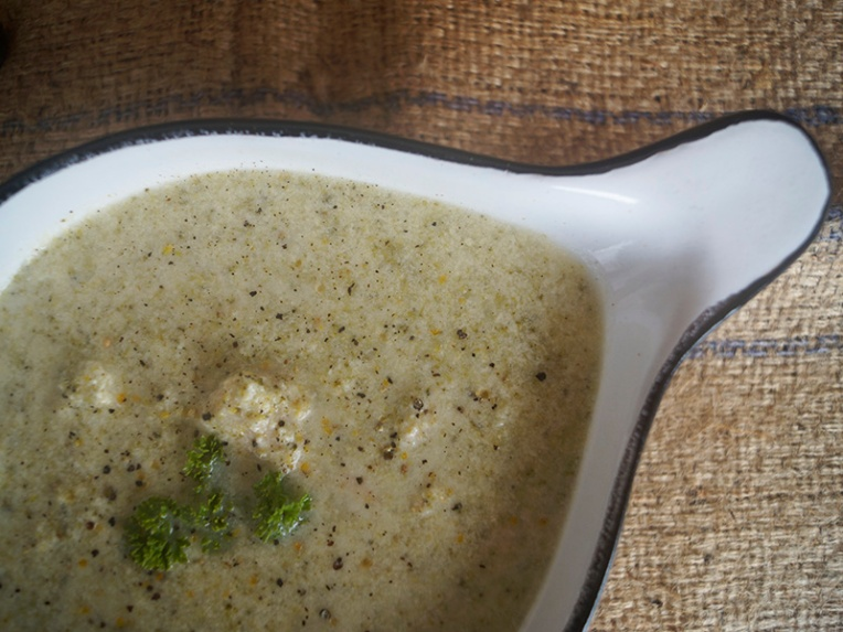 Chicken and broccoli soup 2
